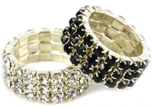 Lincoln Diamante Plaiting Bands (set of 20)